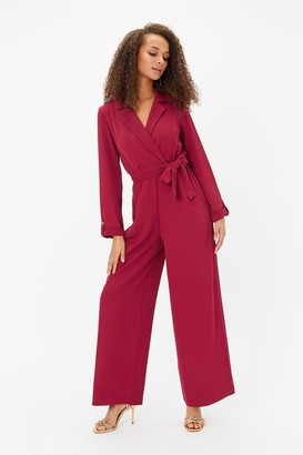 Coast Long Sleeve Tux Collar Jumpsuit