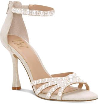 INC International Concepts Inc Women Riolana Pearl Evening Sandals, Women Shoes