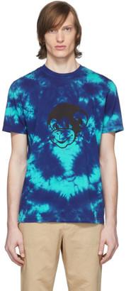 Paul Smith Blue Tie-Dye T-Shirt