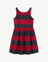 Ralph Lauren Stripe cotton sateen fit-and-flare dress 2-12 years
