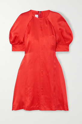 McQ Hisano Hammered-silk Mini Dress - Orange