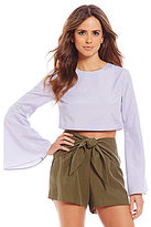 Gianni Bini Bella Bell Sleeve Crop Top