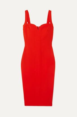 Victoria Beckham Paneled Cady Dress - Red