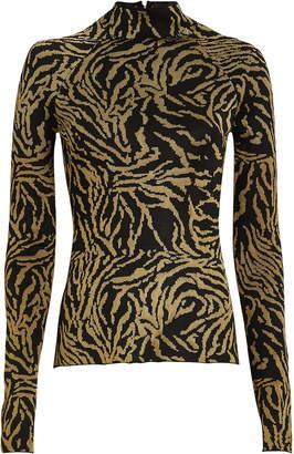Proenza Schouler Zebra Knit Jacquard Top