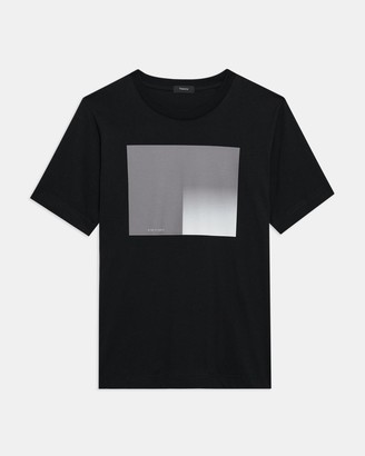 Theory Casey Tee in Color-Blocked Jersey