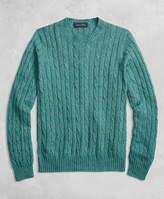 Brooks Brothers Golden Fleece® 3-D Knit Cable Crewneck Sweater