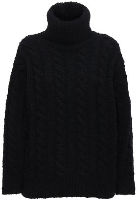 Dolce & Gabbana Wool Blend Knit Maxi Turtleneck Sweater
