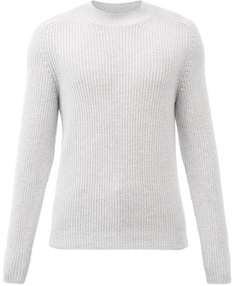 Iris von Arnim Ethan Crew-neck Ribbed-cashmere Sweater - Light Grey