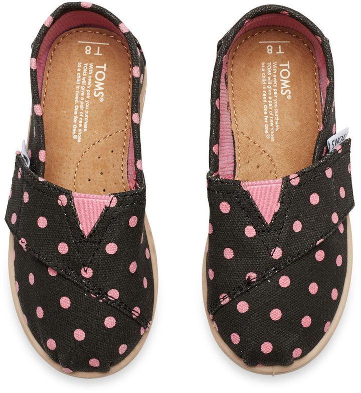 Toms Black Pink Small Dot Tiny Classics
