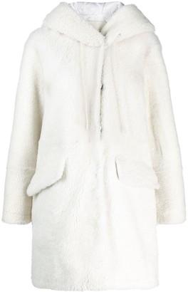 Drome hooded shearling coat