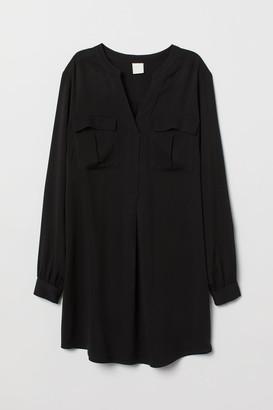 H&M V-neck viscose tunic
