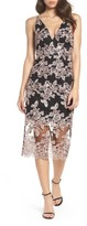 Xscape Evenings Women's Plunge Lace Midi Dress