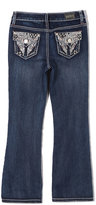 ZCO Blue Angel-Embroidered Jeans - Girls