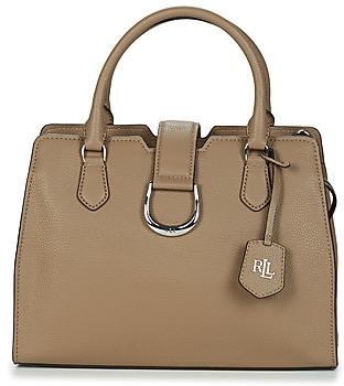 Lauren Ralph Lauren KENTON CITY SATCHEL MED women's Handbags in Grey