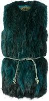 Alessandra Chamonix fur detail coat