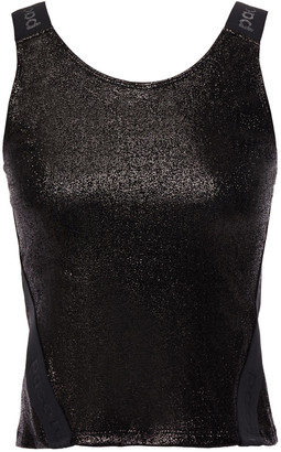 Paco Rabanne Cropped Metallic Stretch-jersey Tank