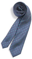 Nordstrom Boy's Dot Silk & Cotton Tie