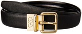 Cole Haan 25mm Saffiano to Patent Feather Edge Reversible Belt