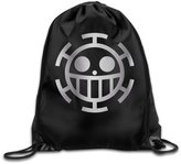 WBADLCW One Piece Heart Pirate Platinum Style Drawstring Backpack Bag