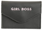 Rosanna Women's Girl Boss Leather Card Holder - Black