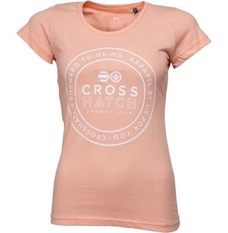 Crosshatch Womens Kayla T-Shirt Salmon