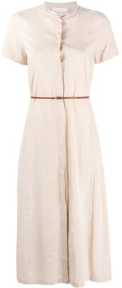 Fabiana Filippi Short Sleeved Belted Midi Dress