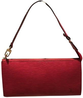 Louis Vuitton Pochette Accessoire Red Leather Clutch bags