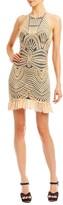 Nicole Miller Island Embroidery Ruffle Dress