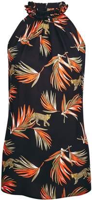 Dorothy Perkins Womens **Tall Palm Print Halter Neck Top
