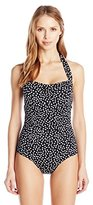 Jantzen Women's Jet Set Sweetheart Halter One-Piece Swimsuit