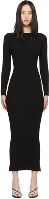 Alexander Wang Black Moving Rib Splittable Dress