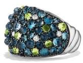 David Yurman Osetra Dome Ring With Hampton Blue Topaz, Peridot And