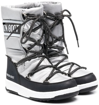 MOON BOOT KIDS Mid Waterproof Nylon snow boots