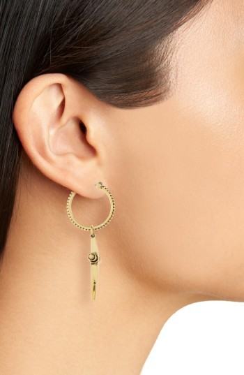 Luv Aj Women's Cross Hoop Earrings