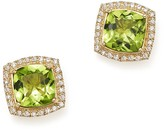 Bloomingdale's Peridot Cushion and Diamond Stud Earrings in 14K Yellow Gold - 100% Exclusive