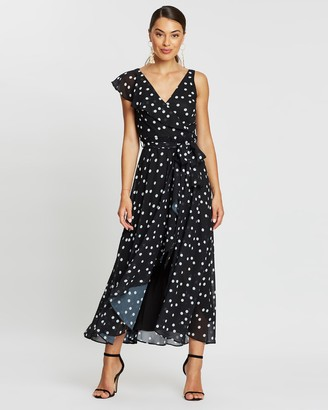 Montique - Women's Black Printed Dresses - Melanie Soft Printed Chiffon Dress - Size One Size, 8 at The Iconic