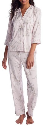 Lauren Ralph Lauren Pink Floral Woven Pajama Set
