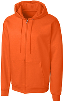 Clique Orange Fleece Zip-Up Hoodie - Unisex