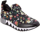 Tory Burch Floral Printed Jupiter Leather-Trim Sneaker