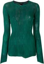 Avant Toi textured long sleeved top