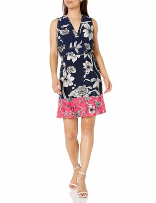 Brinker & Eliza Women's Printed Surplus Dress with Ruffle Hem (Regular & Petite)