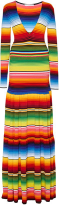 Carolina Herrera Striped Cotton-Blend Maxi Dress