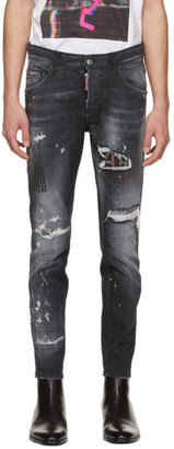 DSQUARED2 Black Studded Skater Jeans