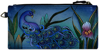 Anuschka Anna By Anna by Women's Wallets Midnight - Gray Midnight Peacock Hand-Painted Leather Wallet