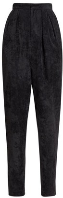 Isabel Marant Fany Corduroy High-rise Trousers - Womens - Black