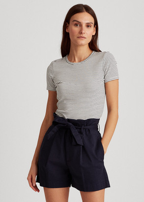 Ralph Lauren Striped Cotton-Blend Tee