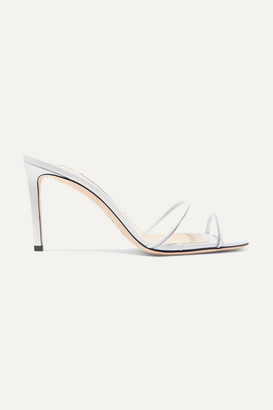 Jimmy Choo Stacey 85mm Leather And Pvc Mules - White