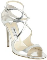 silver mirrored leather 'Lance' sandals