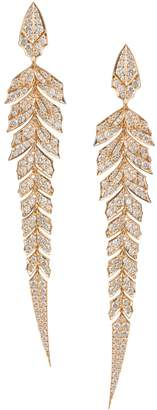 Stephen Webster Rose Gold and Pave Diamond Magnipheasant Drop Earrings