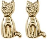 Candela 14K Gold Cat Stud Earrings